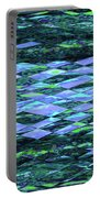 Blue Green Ocean Abstract Portable Battery Charger