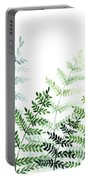 Green Fern Leaves Portable Battery Charger