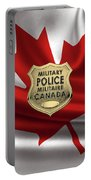 Canadian Forces Military Police C F M P  -  M P Officer Id Badge Over Canadian Flag Portable Battery Charger