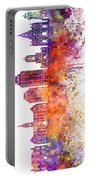 Halifax V2 Skyline In Watercolor Background Portable Battery Charger