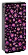 Purple Polka Portable Battery Charger
