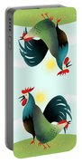Morning Glory Rooster And Hen Wake Up Call Portable Battery Charger