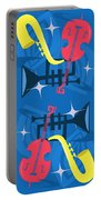 Jazz Composition With Bass, Saxophone And Trumpet Portable Battery Charger