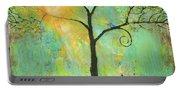 Hello Sunshine Tree Birds Sun Art Print Portable Battery Charger