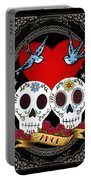 Love Skulls II Portable Battery Charger