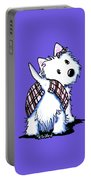 Dressed To Kilt Westie Portable Battery Charger