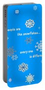 Snowflakes 5 Portable Battery Charger