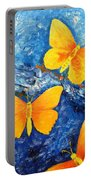 Butterfly In Blue 1 Portable Battery Charger