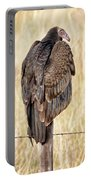 Portrait Of A Vulture Portable Battery Charger