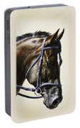 Dressage Horse - Concentration Portable Battery Charger by Crista Forest
