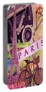 Paris  Portable Battery Charger by Eloise Schneider