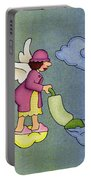 Heavenly Housekeeper Portable Battery Charger by Sarah Batalka