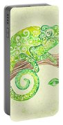 Swirly Chameleon Portable Battery Charger