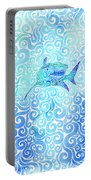 Swirly Shark Portable Battery Charger