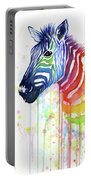 Rainbow Zebra - Ode To Fruit Stripes Portable Battery Charger