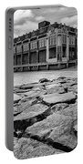 Asbury Park Rocks, Black And White Portable Battery Charger