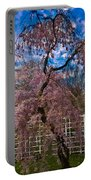 Asian Cherry In Blossom Portable Battery Charger