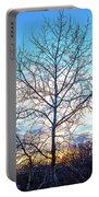 Aspen Tree At Sunset Portable Battery Charger