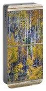 Aspen Tree Magic Cottonwood Pass White Farm House Window Art Portable Battery Charger