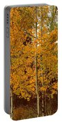 Aspen Trees With Autumn Leaves  Portable Battery Charger