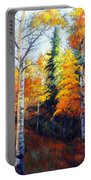 Aspens In Fall. Portable Battery Charger
