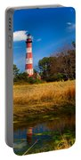Assateague Lighthouse Reflection Portable Battery Charger