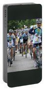 Astana Team With Lance Armstrong Portable Battery Charger by Travel Pics