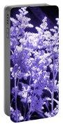 Astilbleflowers In Violet Hue Portable Battery Charger