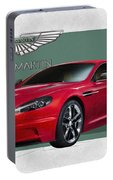 Aston Martin  D B S  V 12  With 3 D Badge  Portable Battery Charger