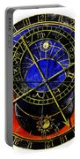 Astronomical Clock In Grunge Style Portable Battery Charger