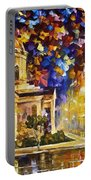 Asuncion Paraguay - Palette Knife Oil Painting On Canvas By Leonid Afremov Portable Battery Charger