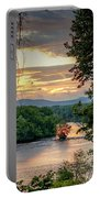 At A Bend In The River Portable Battery Charger by Kendall McKernon