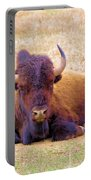 A Buffalo Staring Portable Battery Charger
