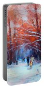 At Dawn On Tverskoy Boulevard Portable Battery Charger