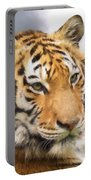 At The Center - Tiger Art Portable Battery Charger