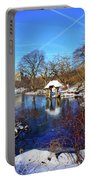 At The Frozen Lake Portable Battery Charger