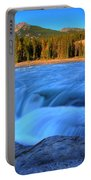 Athabasca Falls In Jasper National Park Portable Battery Charger