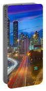 Atlanta Downtown By Night Portable Battery Charger