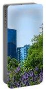Atlanta Skyline From Atlanta Botanical Garden Portable Battery Charger