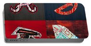 Atlanta Sports Fan Recycled Vintage Georgia License Plate Art Braves Hawks Falcons Plus State Map Portable Battery Charger