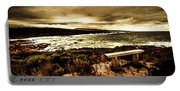 Atmospheric Beach Artwork Portable Battery Charger