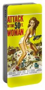 Attack Of The 50 Ft. Woman Poster Portable Battery Charger