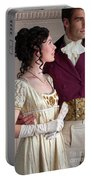 Attractive Regency Couple Portable Battery Charger