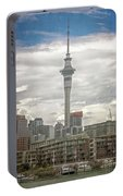 Auckland New Zealand Sky Tower Textured Portable Battery Charger