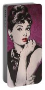 Audrey Hepburn - Breakfast Portable Battery Charger