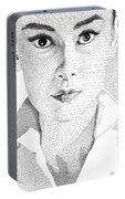 Audrey Hepburn In Her Own Words Portable Battery Charger