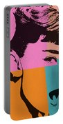 Audrey Hepburn Pop Art 2 Portable Battery Charger