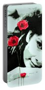 Audrey In Poppies Portable Battery Charger
