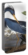 Audubon Heron, 1827 Portable Battery Charger by John James Audubon