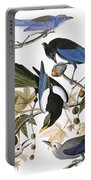 Audubon: Jay And Magpie Portable Battery Charger